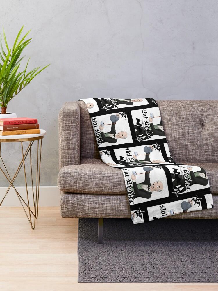 Alternate view of Bat Butler Throw Blanket