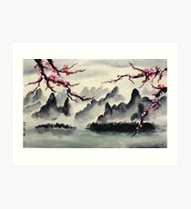 Chinese Landscape Painting Art Print