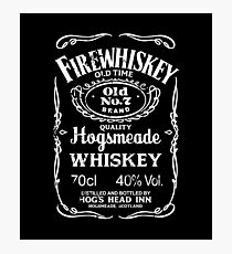 Hogsmeade's Old No.7 Brand Firewhiskey Photographic Print
