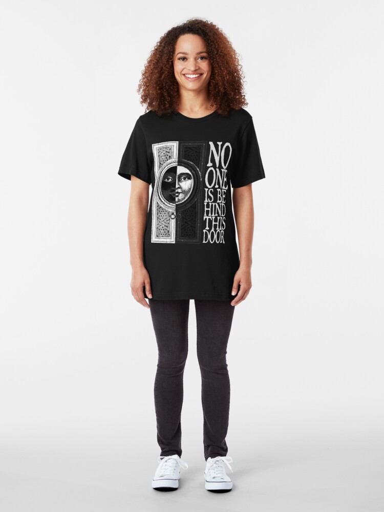 Alternate view of House of No One (White) Slim Fit T-Shirt