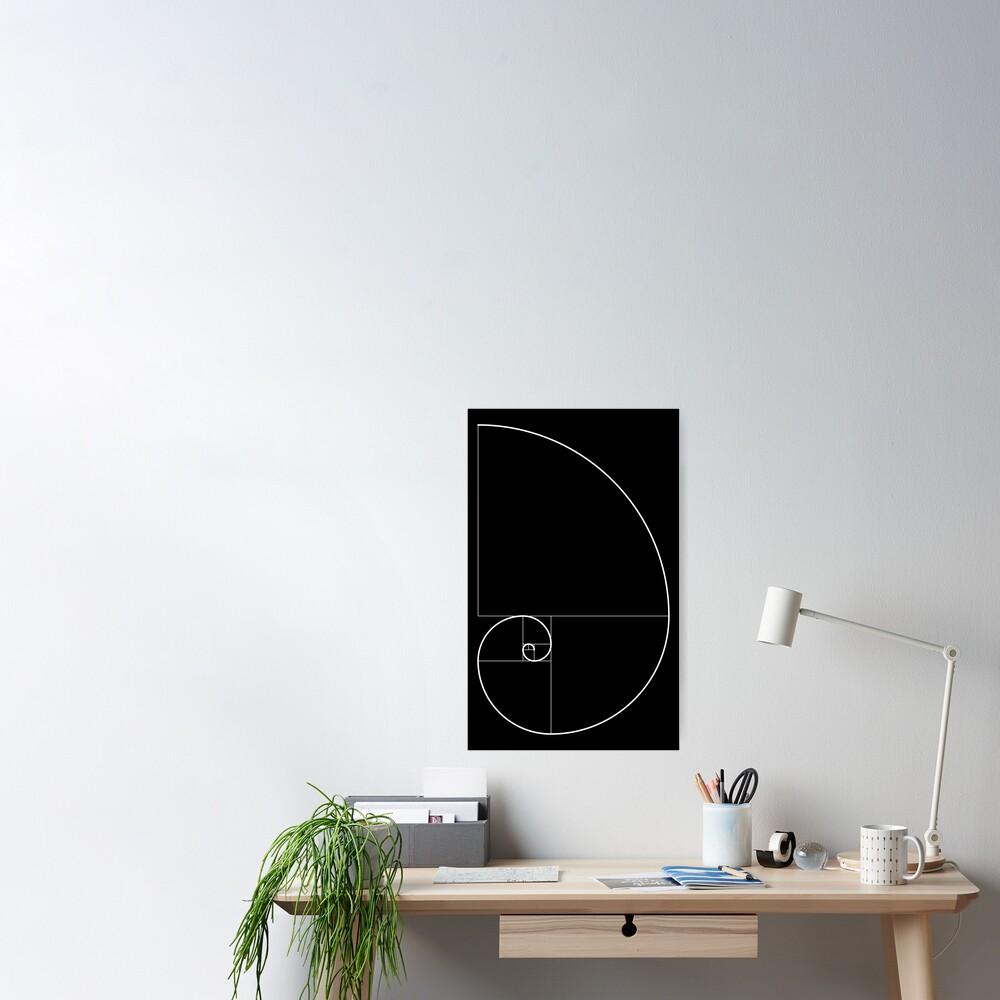 Fibonacci Spiral 001 Poster
