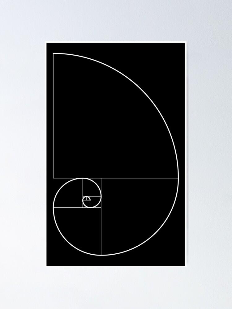 Alternate view of Fibonacci Spiral 001 Poster