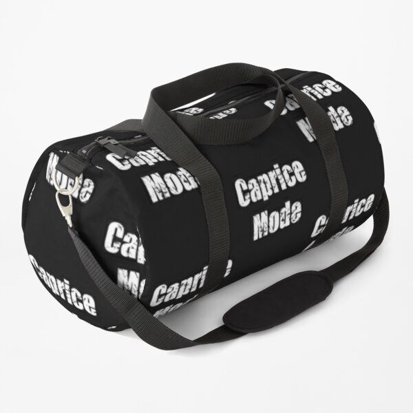 Distressed Caprice Mode Text  Duffle Bag