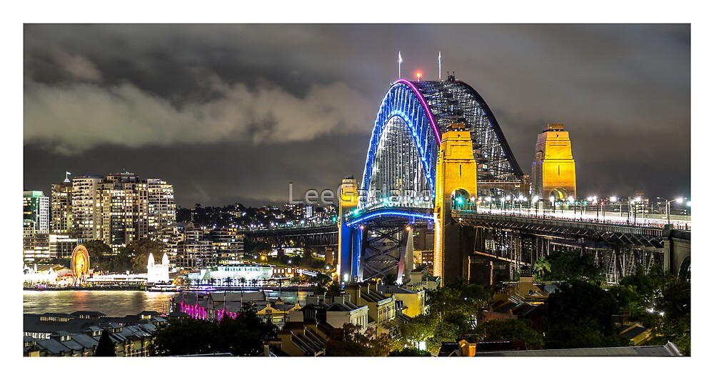 Vivid Harbour Bridge from Observatory Hill Sydney by LeeGatland