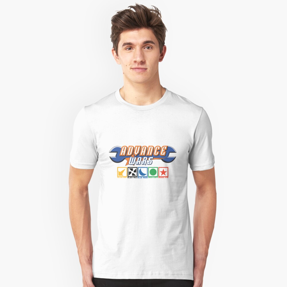 Advance Wars Logo with Factions Slim Fit T-Shirt