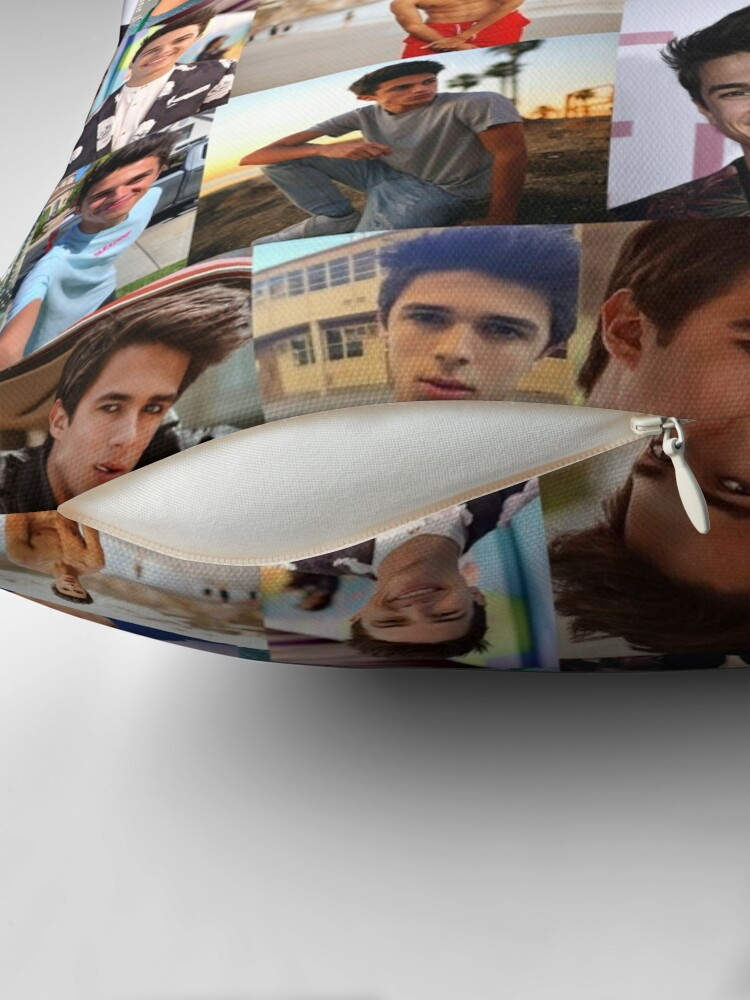 """Brent Rivera Collage Artwork"" Throw Pillow by ..."