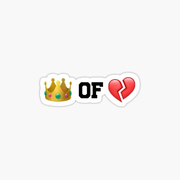 Reina de corazones rotos Pegatina