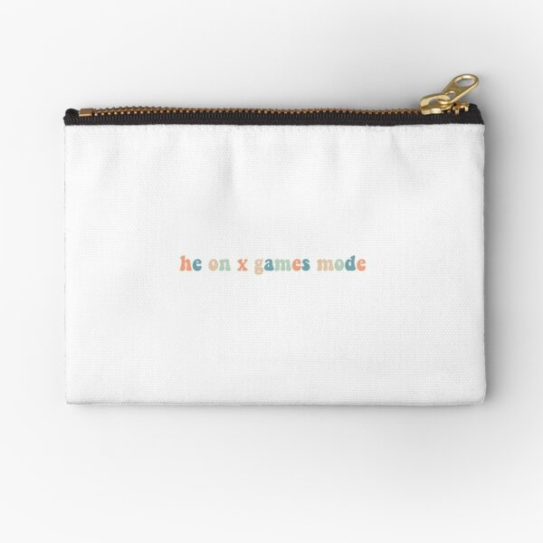 he on x games mode colorful  Zipper Pouch