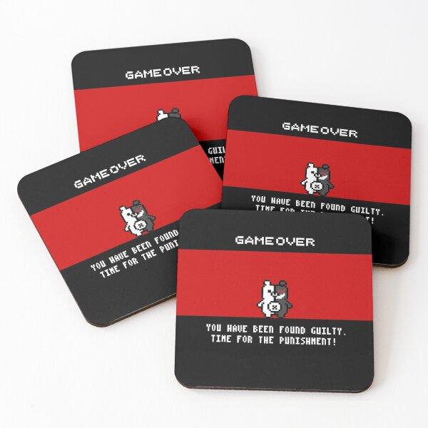 Danganronpa Monokuma Game Over Pin Coasters (Set of 4)