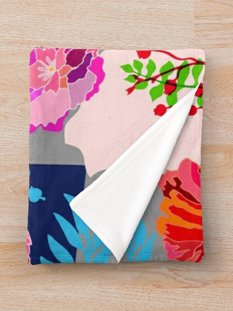 Alternate view of Technicolor Floral Throw Blanket