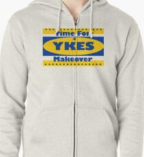YKES: Time for a Makeover Zipped Hoodie