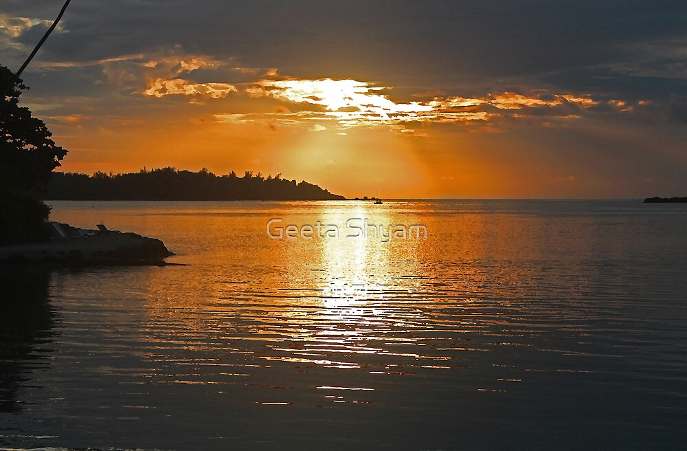 A beautiful end to the day by Geeta Shyam