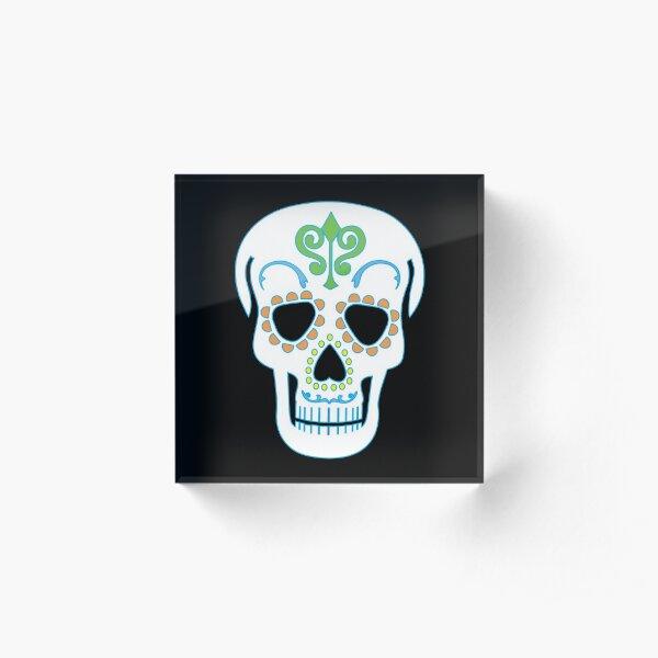 Mr Sugar Skull Acrylic Block