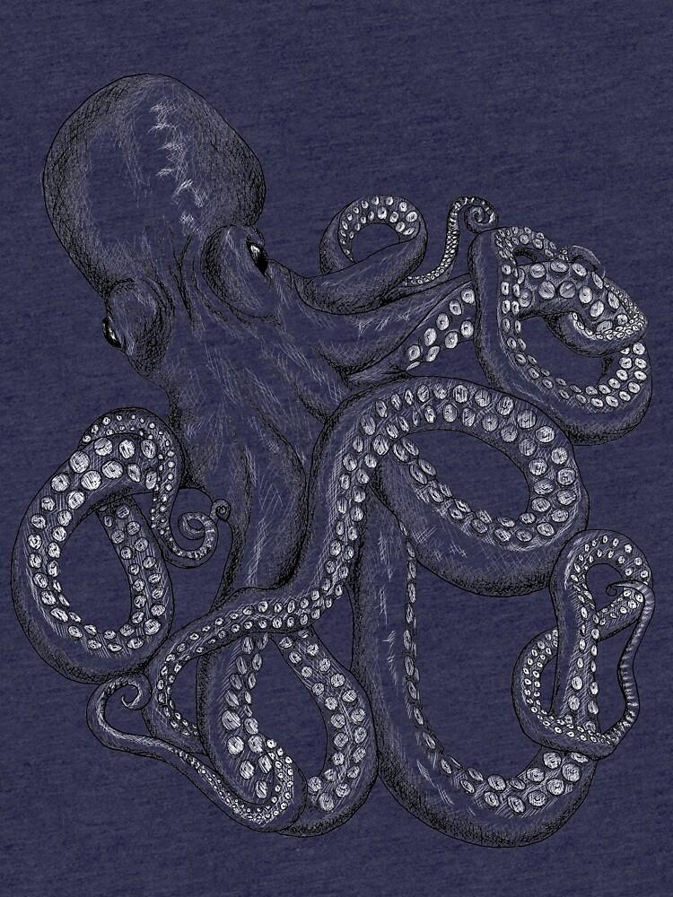 Realistic Octopus - Two Tone by SuspendedDreams