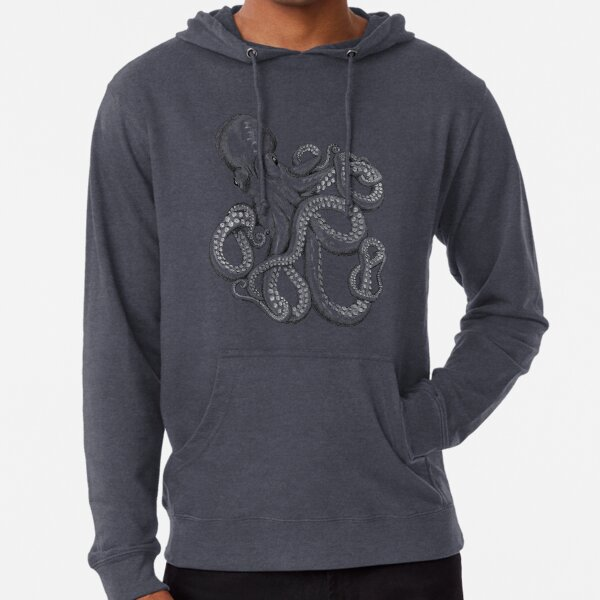 Realistic Octopus - Two Tone Lightweight Hoodie