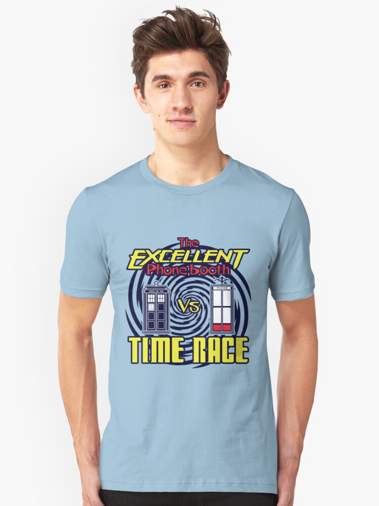 The Excellent Phone Booth Time Race Unisex T-Shirt Front