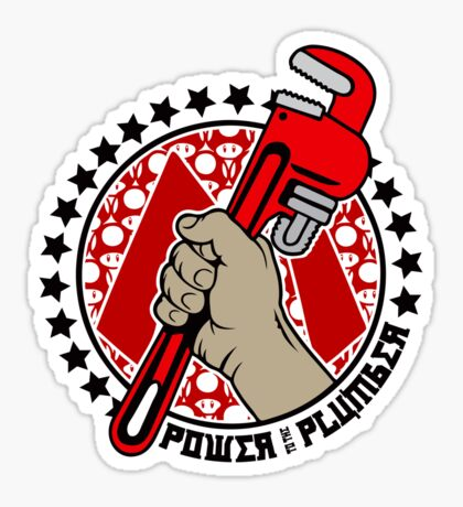 Power To The Plumber Sticker