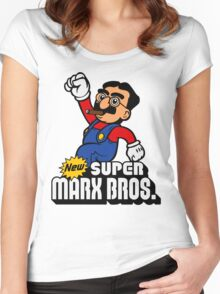 Super Marx Bros. Women's Fitted Scoop T-Shirt