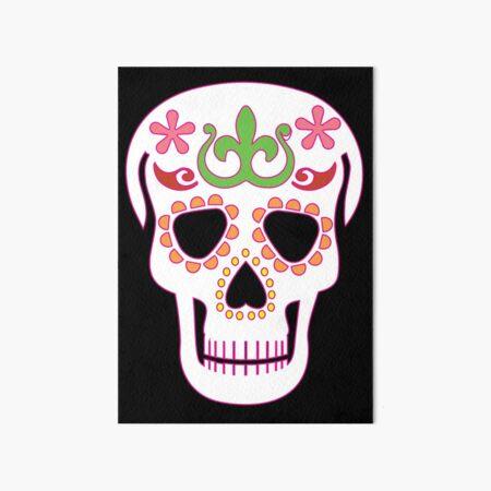 Mrs Sugar Skull Art Board Print