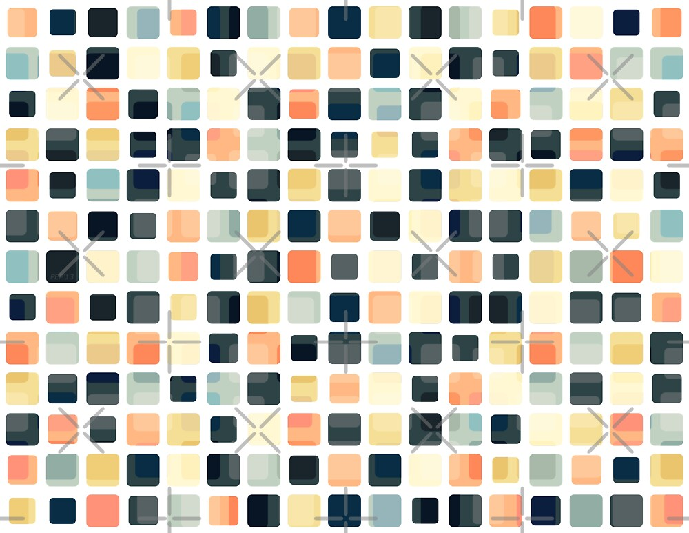 Colorful Tile Abstract by Phil Perkins