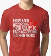 From each according to their ability... Tri-blend T-Shirt