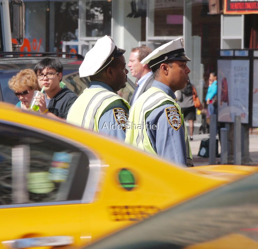 New York, two street policemen by Aldo Shaltiel