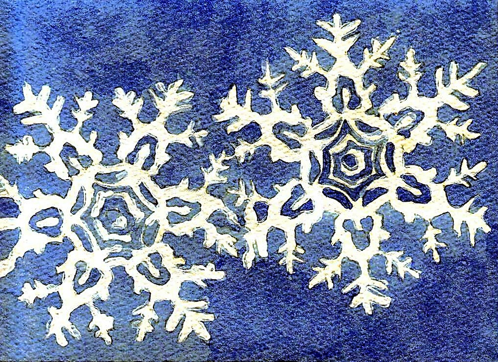 Snowflake Blank Christmas Card by Oldetimemercan