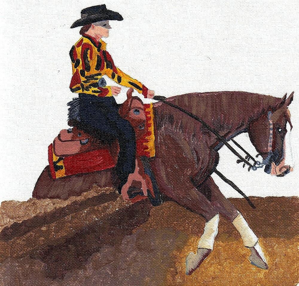 Quarter Horse Reining Horse by Oldetimemercan