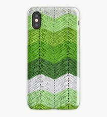 Green Crocheted Afghan Blanket iPhone Case/Skin