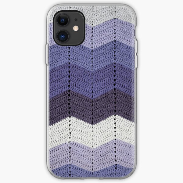 Purple Crocheted Afghan Blanket iPhone Soft Case