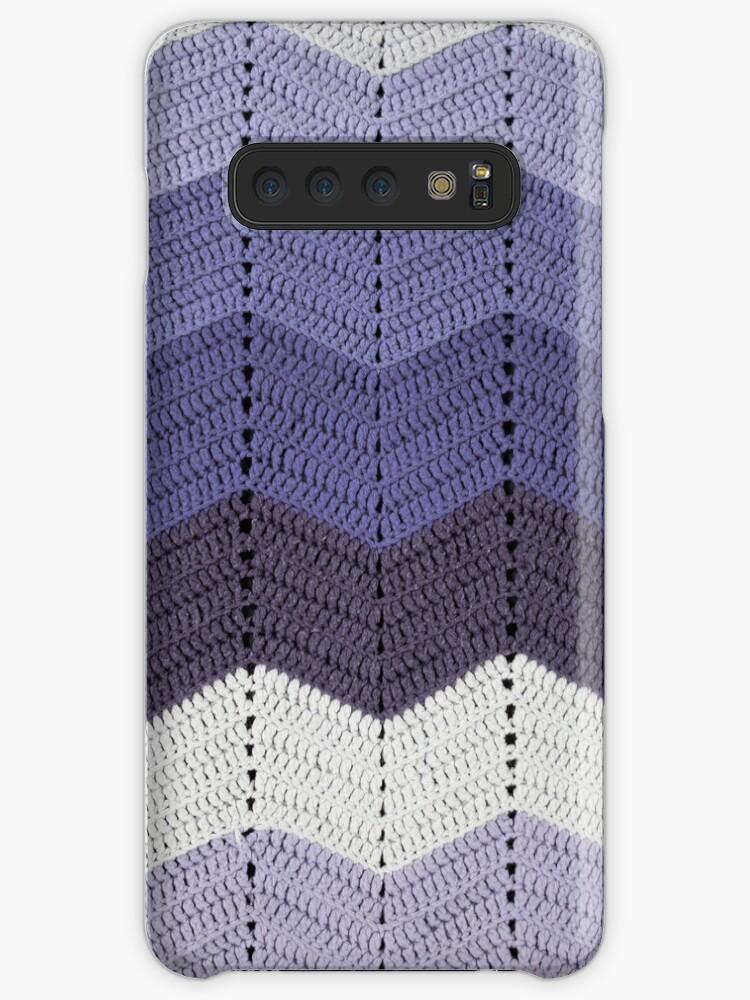 'Purple Crocheted Afghan Blanket' Case/Skin for Samsung Galaxy by GreenSpeed
