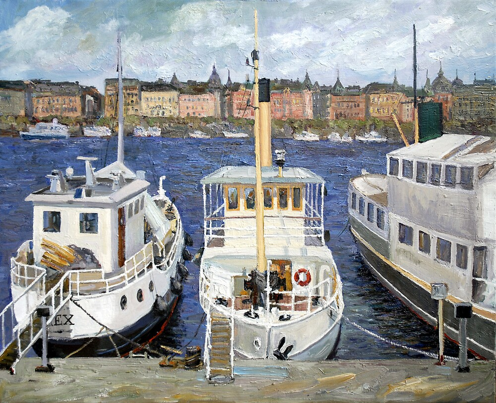 Boats in Stockholm by SergejK