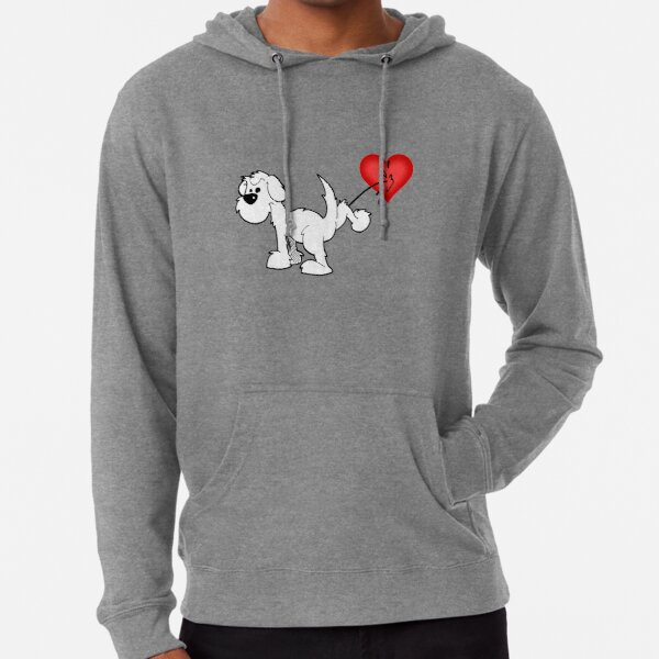 DOG - at least the dog likes me ! - on green Lightweight Hoodie