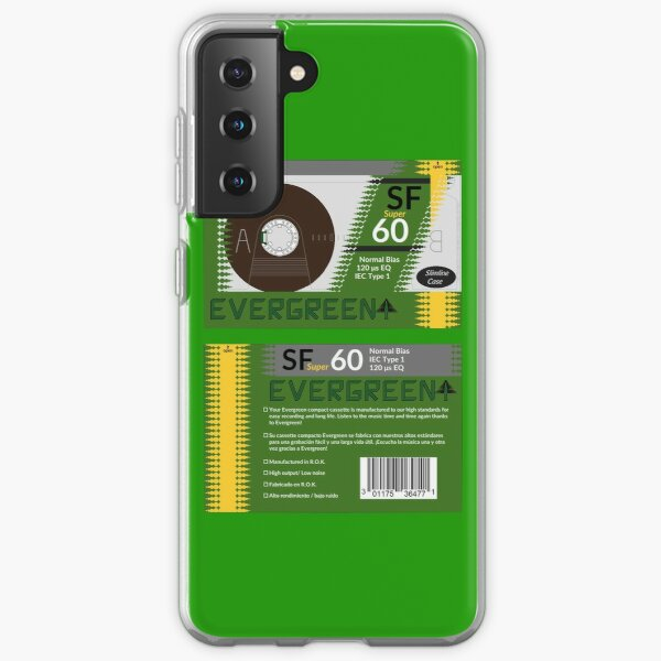 Evergreen SF super 60 type 1 cassette (front and back) Samsung Galaxy Soft Case