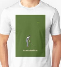 Golfer concentrating. T-Shirt