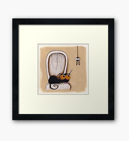 Oh no... Not you again Framed Print