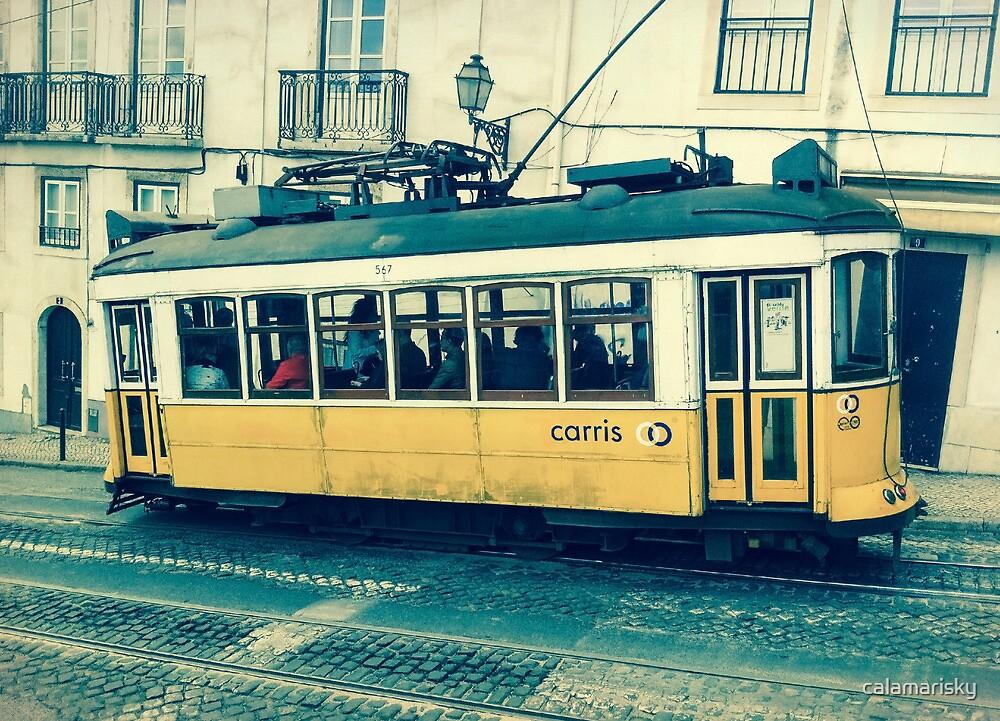 Yellow Tram by calamarisky
