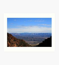 STATE HIGHWAY 89A SCENIC ROUTE ARIZONA JULY 2006 Art Print