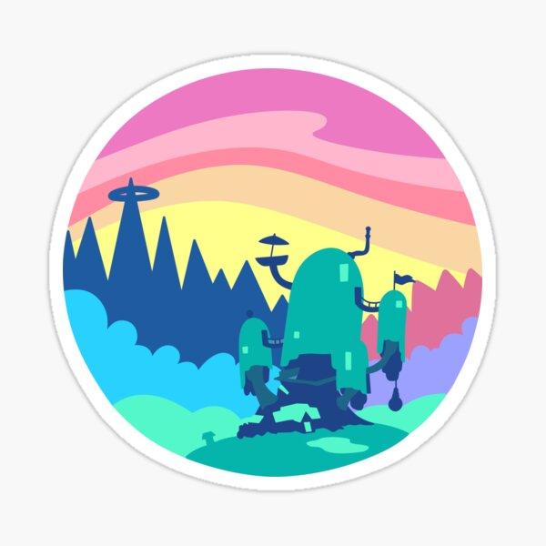 Tree House Vector Landscape  Sticker