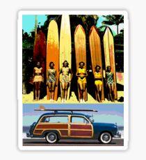 Cool Babes & Hot Rod Sticker