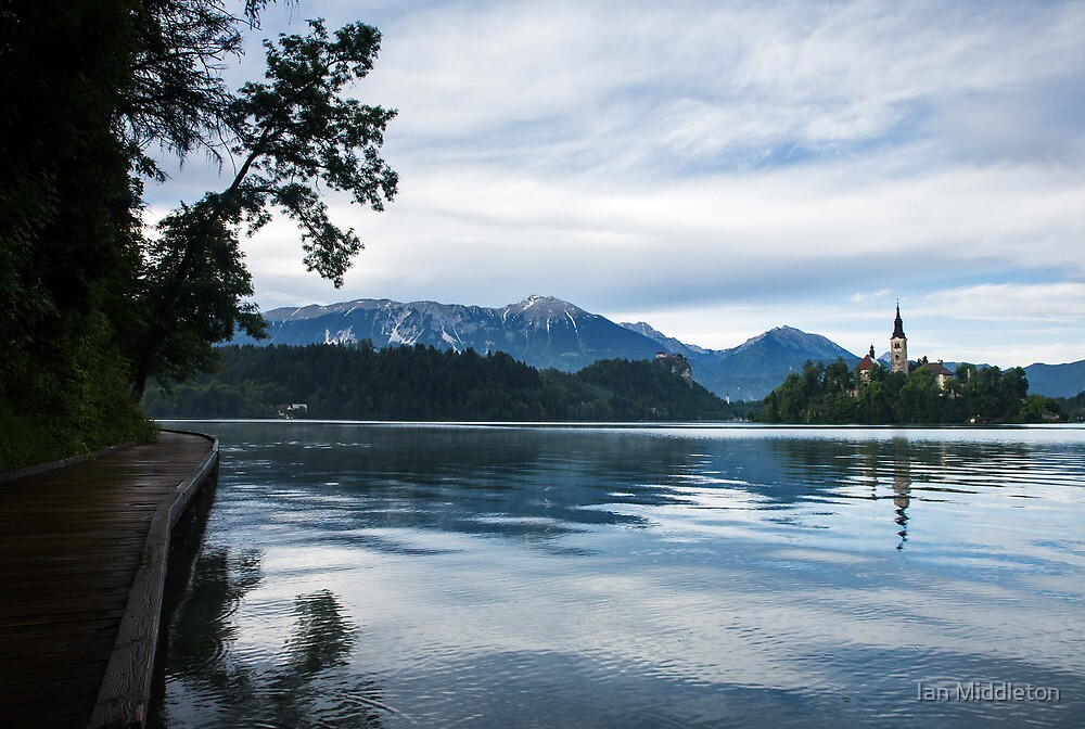After storm light over Lake Bled by Ian Middleton