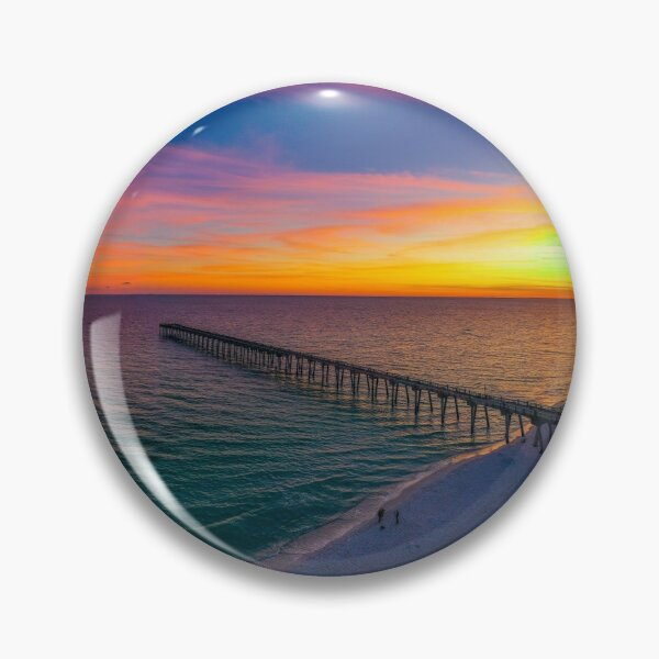 November Sunset Pin