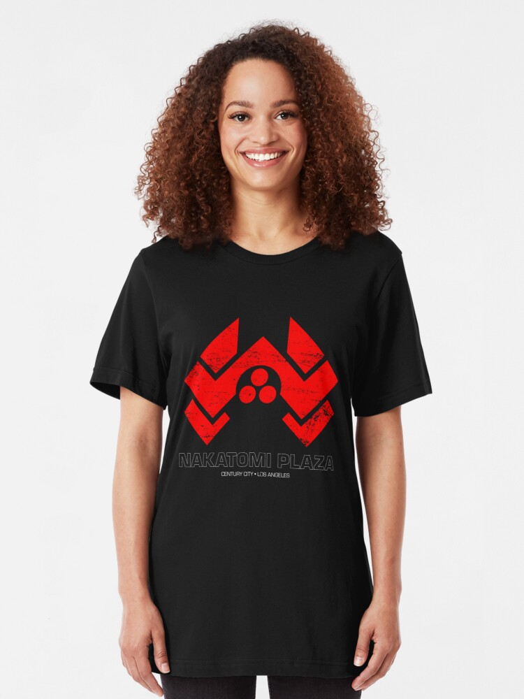 Alternate view of Nakatomi Plaza Slim Fit T-Shirt