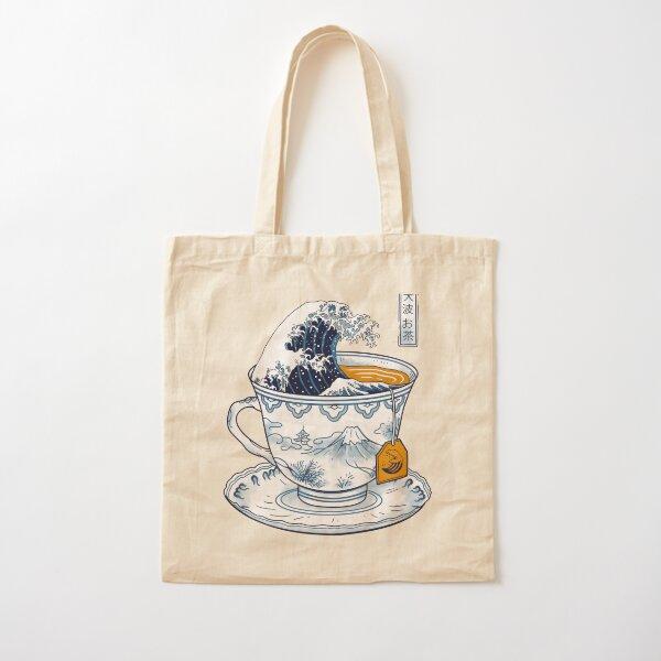 The Great Kanagawa Tea Cotton Tote Bag