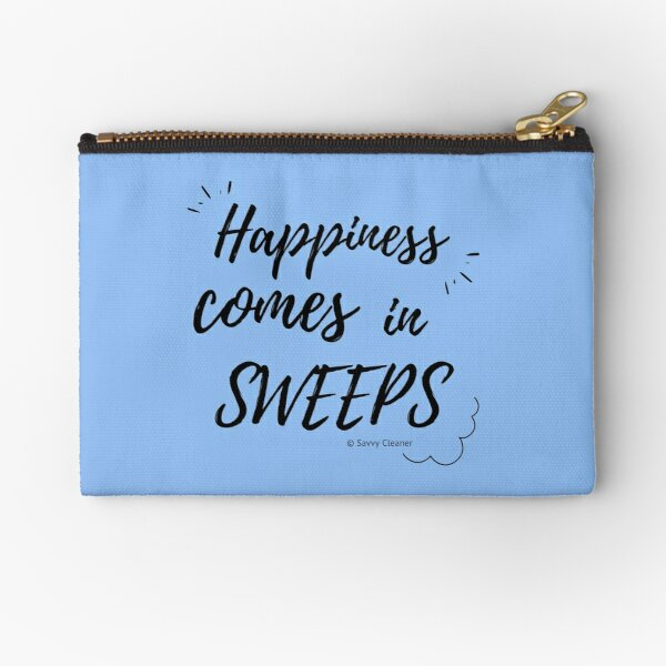 Happiness Comes in Sweeps Zipper Pouch