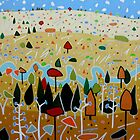 Whimsical Landscape 4. by Richard Klekociuk