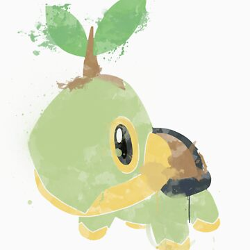 Graffiti Turtwig by niterune