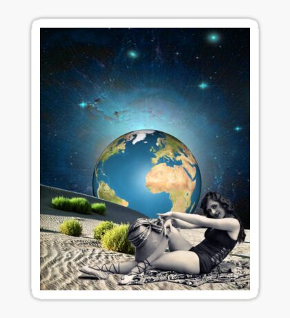 Earth bathing Sticker