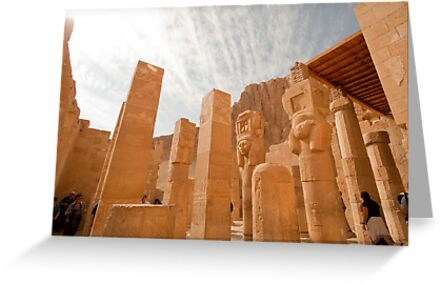 At Temple of Hapshepsut in Thebes Egypt by renprovo