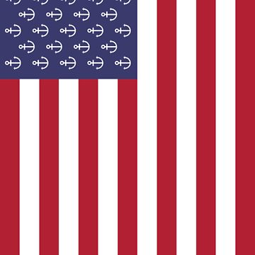 Anchor American flag by OneLetterZ
